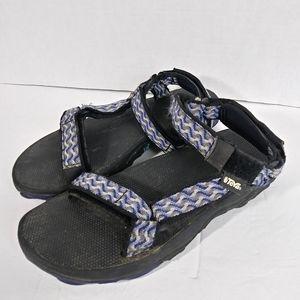 Teva Blue Adjustable Strap Sandals. Size 8